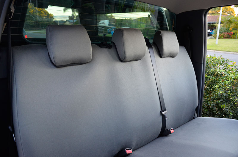 Ford Ranger Rear Seat Covers In Grey Denim